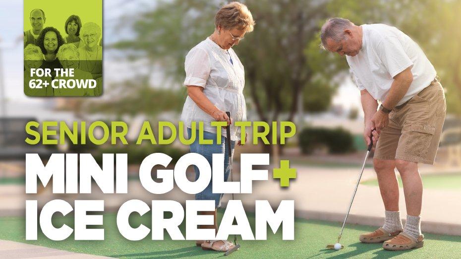 Senior Adult Mini Golf Event