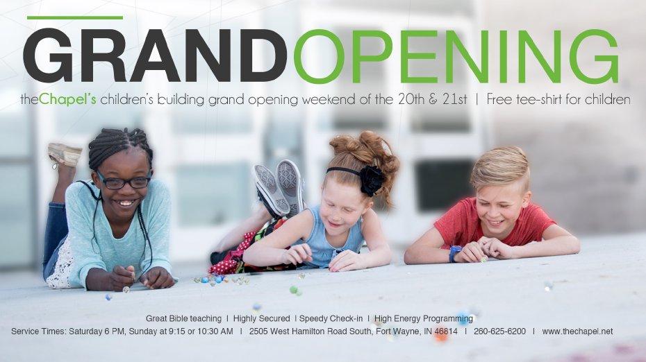 Children's Building Grand Opening!