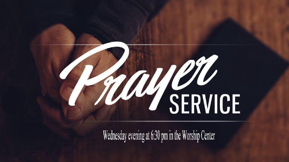 Wednesday Night Prayer Service - Crossgate Church App