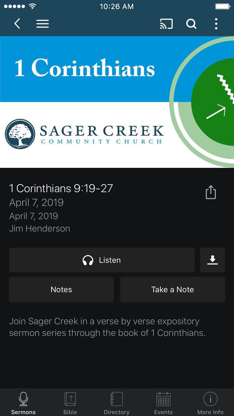 Download App - Sager Creek Community Church