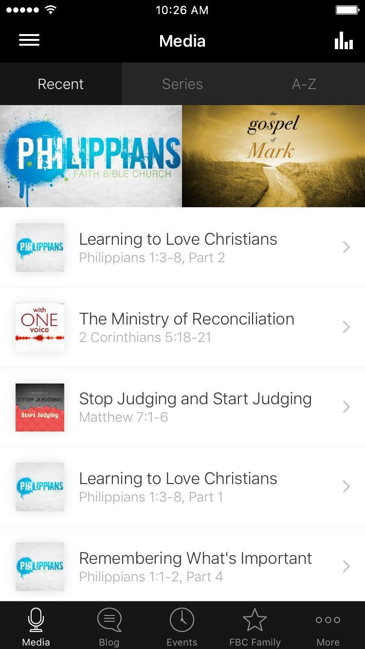 App - Faith Bible Church App