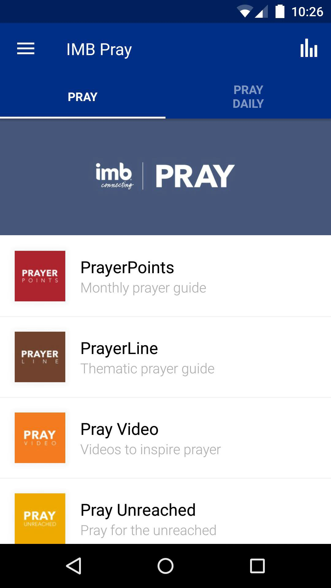 App - IMB Pray